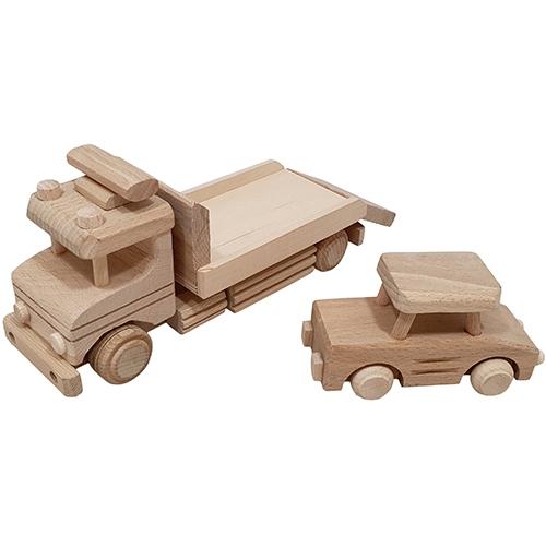 Auto transporter met auto beukenhout