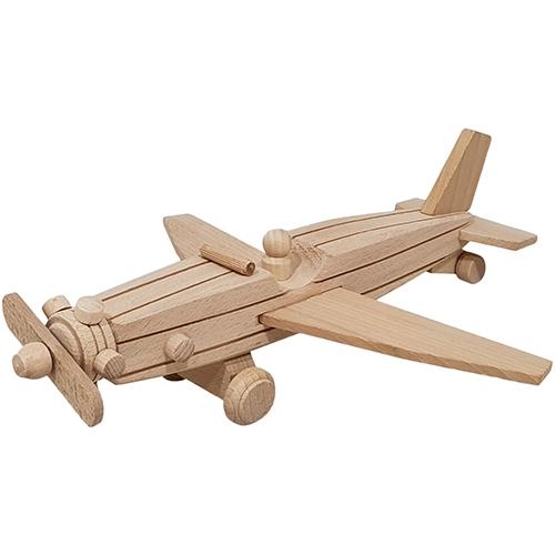 Vliegtuig met pop beukenhout