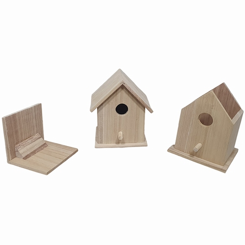 Vogelhuisje vierkant afneembaar dak (1158)
