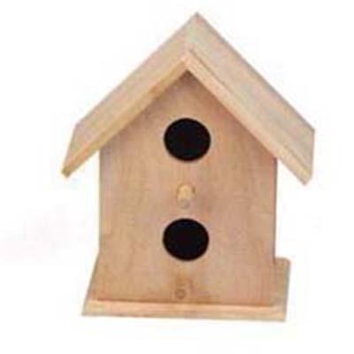 Vogelhuisje vierkant breed (3301)