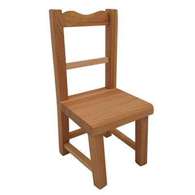 Houten stoeltje; Zitvlak H: 14 CM