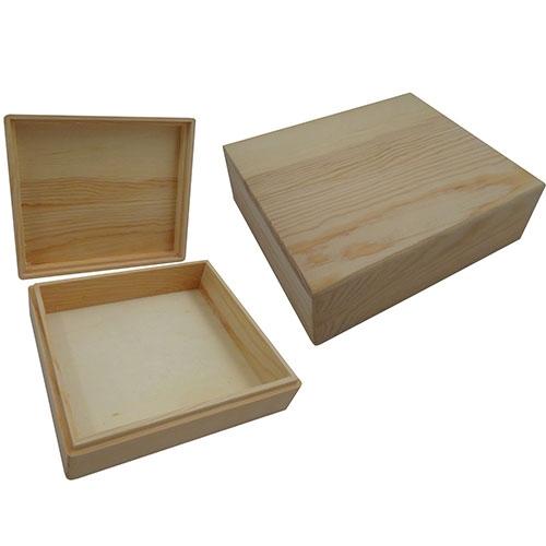Kist rechthoek met los deksel grenen (8643)