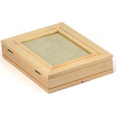 Kist plat met fotolijstje paulownia (2415)