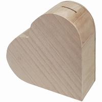 Spaarpot hartvorm paulownia (3224)