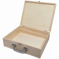 Kist / Koffer met metalen handvat grenen (5240)