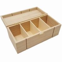 Kist rechthoek met 4 vakken (4216)
