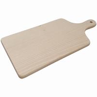 Snijplank beuken met handvat; L 39,5 CM